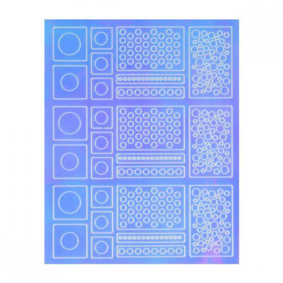 Εφέ Καθρέφτη(Mirror) Nail Art Sticker Νο1