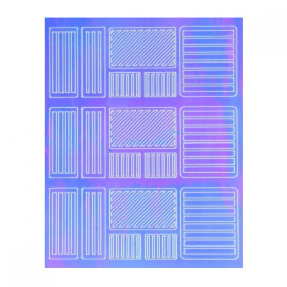 Εφέ Καθρέφτη(Mirror) Nail Art Sticker Νο3