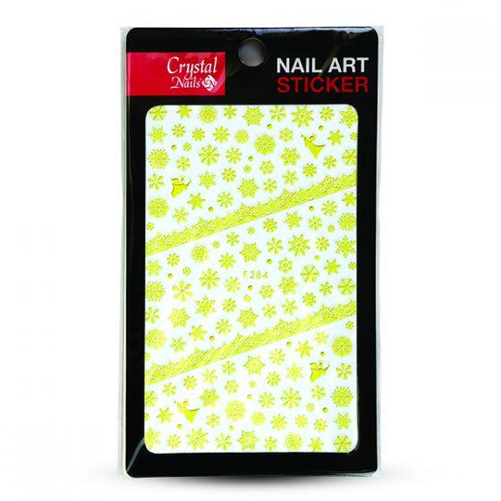 Sticker Χιονονιφάδες (F-284) GOLD - Crystal Nails