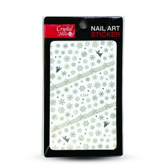 Sticker Χιονονιφάδες (F-284 SILVER)  - Crystal Nails