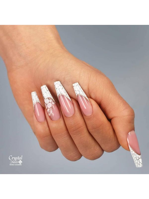 MOSAIC CRYSTAL Nail Art Liquid - Λευκό