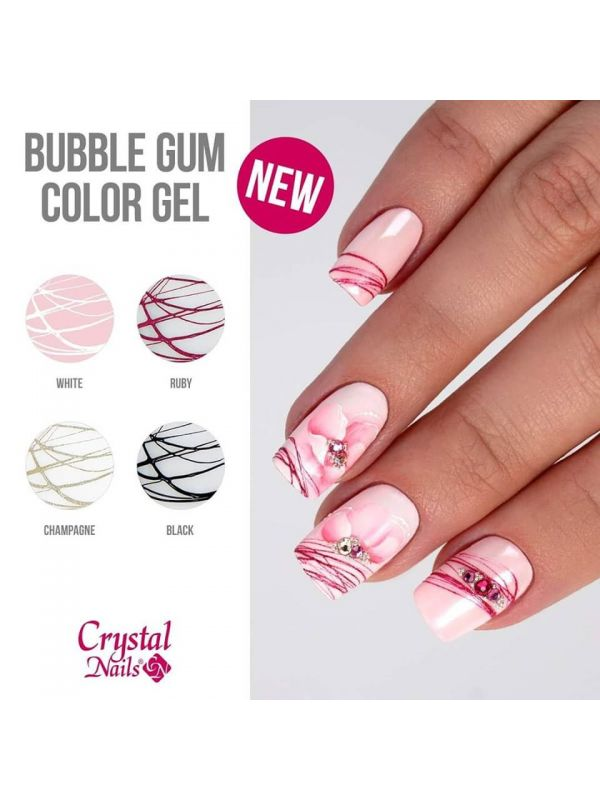 Bubblegum Ελαστικό Nail Art Color gel - Ruby 3ml