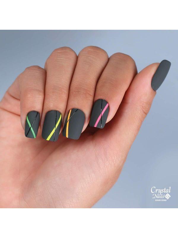 Bubblegum Ελαστικό Nail Art Color gel - Black 3ml