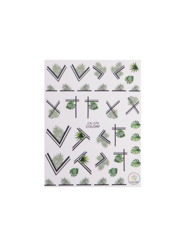 Sticker (CA-574) Τροπικά Φύλλα
