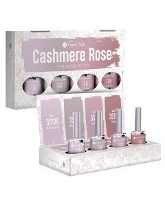 ΚΙΤ ΠΡΟΣΦΟΡΑΣ 4 ΧΡΩΜΑΤΑ * 4ml 2019 3 STEP CrystaLac Ημιμόνιμα Βερνίκια - Cashmere Rose