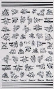 Sticker (F642) Μαύρα Τριαντάφυλλα